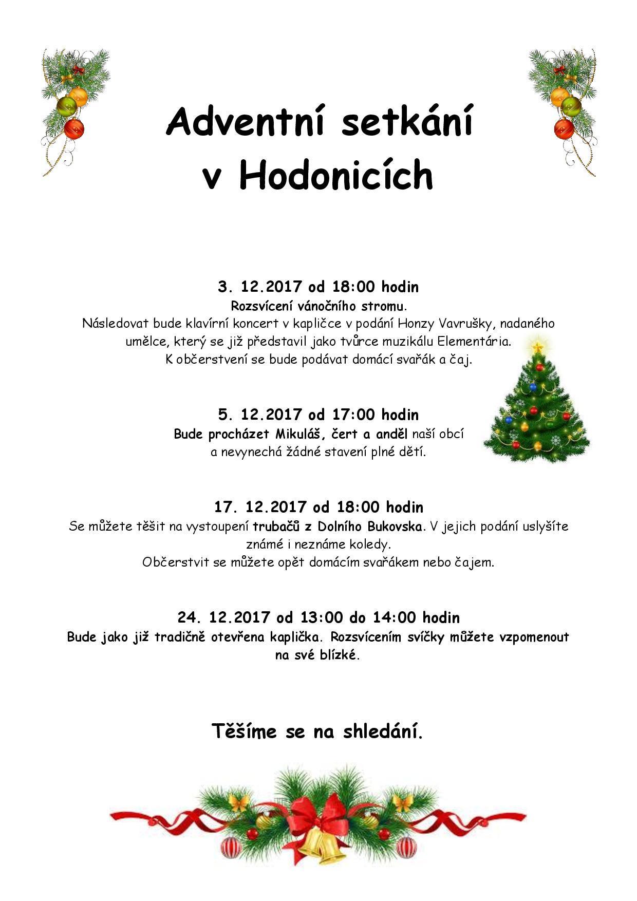 Hodonický advent 2017